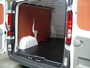 laadvloer en wand - bescherming bestelwagen