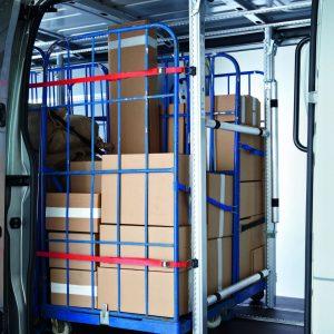 vastzetsystemen bedrijfswagens - ladingzekering - Bewaco