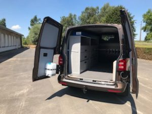 alu inrichting vw transporter